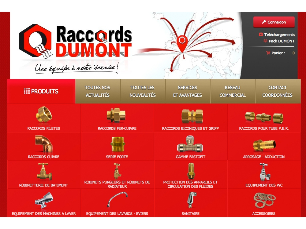 Un site Internet pour les Raccords Dumont