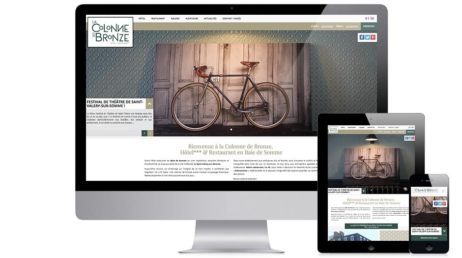 site internet hotel Colonne de Bronze et web responsive